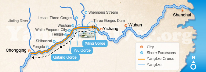 Upstream: Yichang > Chongqing